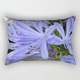 Blue Agapanthus  Rectangular Pillow