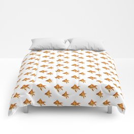Gold Fish Painting Wall Art Comforters