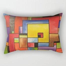 Colors geometric way cubism Rectangular Pillow