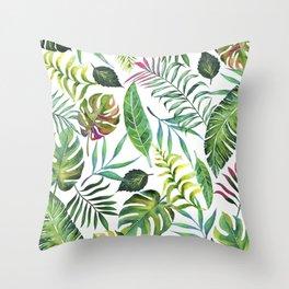 Tropical Flora #society6 #decor #buyart Throw Pillow