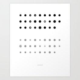Comic Sans Beauty: Floral Rotation Alphabet Art Print