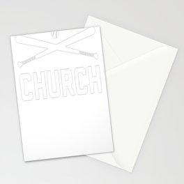 BASEBALL CHURCH T-SHIRT Stationery Cards