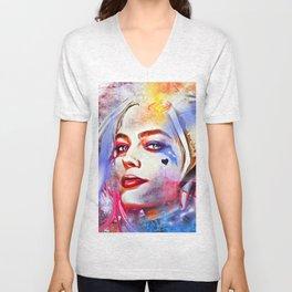 Harley Quinn Painted Unisex V-Neck