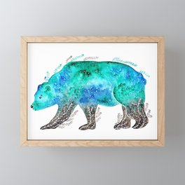 Earth Bear Framed Mini Art Print