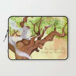 The concentrated Lady of the Oak Laptop Sleeve