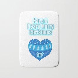 Have A Beary Merry Christmas Teddy Bear Heart Gifts Bath Mat