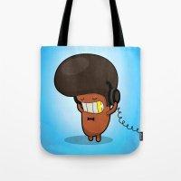 bruno mars Tote Bags featuring BRUNO by Piktorama