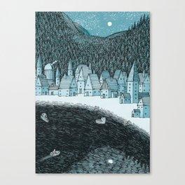 'Mountain Town' Canvas Print