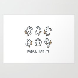 Moo Dance Party Art Print