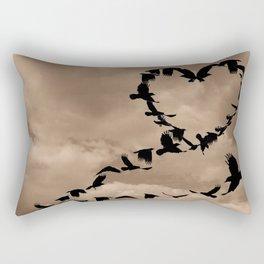Heart of Crows (Birds) A276 Rectangular Pillow