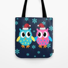 Christmas Owls Tote Bag