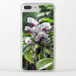 Tropical Orchids Clear iPhone Case