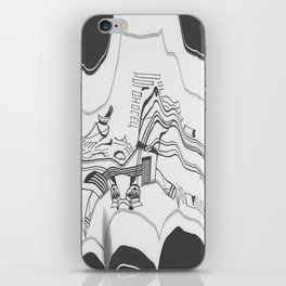 Russian Constructivism Scan iPhone Skin