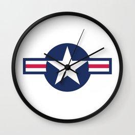 Air force plane symbol - High Quality image Wall Clock