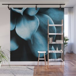 Succulent Leaves In Turquoise Color #decor #society6 #buyart Wall Mural