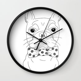 Dapper Bulldog Wall Clock