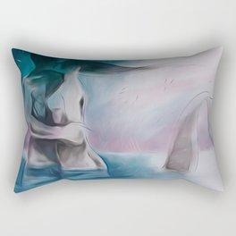 Mermaid?-Embraced couple-Nude Rectangular Pillow