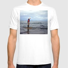 A boy and The Sea 2 MEDIUM White Mens Fitted Tee