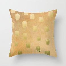 Golden Splotch Haze Throw Pillow