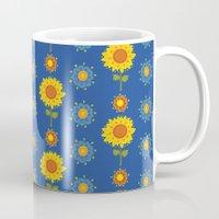 ukraine Mugs featuring Sunflowers of Ukraine by rusanovska