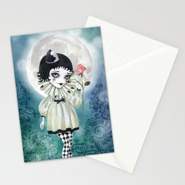 Pierrette Under the Icy Moon Stationery Cards