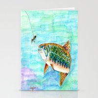 trout Stationery Cards featuring Brook Trout by Linda Ginn Art ©