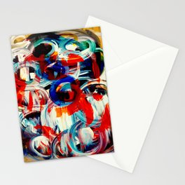 Abstract Action American Painting Stationery Cards