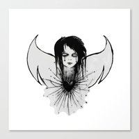 angel Canvas Prints featuring angel by Abraxas (luciana cabane)
