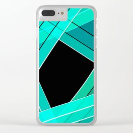 Turquoise silk Clear iPhone Case