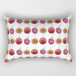 fresh fruits and cocktail rolls Rectangular Pillow