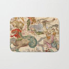 Star Atlas Vintage Constellation Map Ignace Gaston Pardies Bath Mat