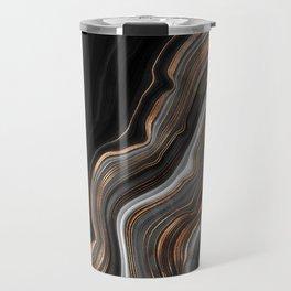 Glowing Marble Waves  Travel Mug
