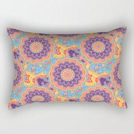 Floral Hippie Bohemien Mandala Pattern Purple Teal Mix PAttern Rectangular Pillow