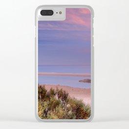 Pink sunrise at Bolonia beach. Paradise beach Clear iPhone Case