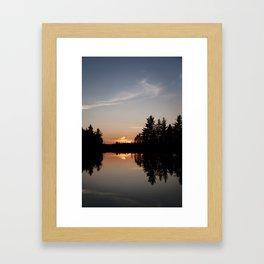 Northern Sunset 003 Framed Art Print