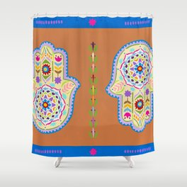 Hamsa Shower Curtain