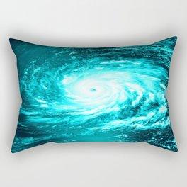 WaTeR Aqua Turquoise Hurricane Rectangular Pillow
