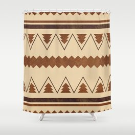 Forest and lines Shower Curtain