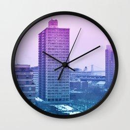 Spring in winter Wall Clock