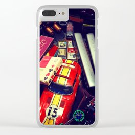 CAUTION! TOTALLY VINTAGE Clear iPhone Case