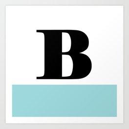 Monogram Letter B-Pantone-Limpet Shell Art Print