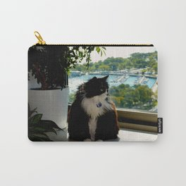 Contemplating Cat (Gracie Queen of Chicago Collection) Carry-All Pouch