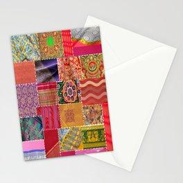 Boho Sari Patchwork Quilt Stationery Cards