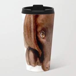 Chocolate Lab Puppy Travel Mug