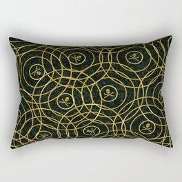 Random Rings Rectangular Pillow