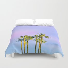 Summer Dreams with Palms Duvet Cover