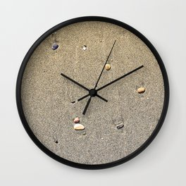 Stones on the Sand Wall Clock