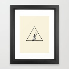 Hurdle (Triangle) Framed Art Print