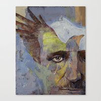 poe Canvas Prints featuring Poe by Michael Creese