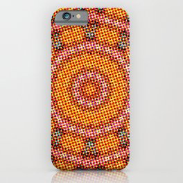 Retro Pop Art Mandala iPhone Case